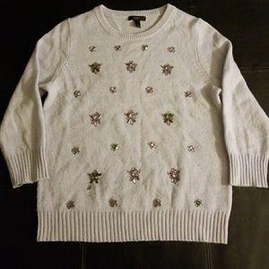 J. Crew Jeweled Sweater